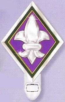 Amia 9299 Nightlight Purple Fleur de Lis