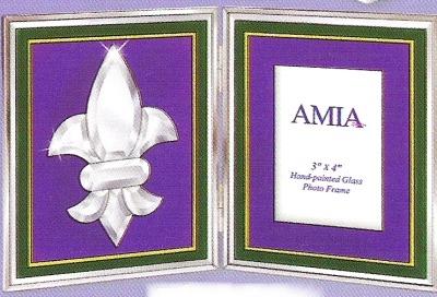 Amia 9301 Purple Picture Frame Fleur de Lis