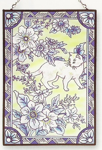 Amia 9366 Pampered Paws Window Panel