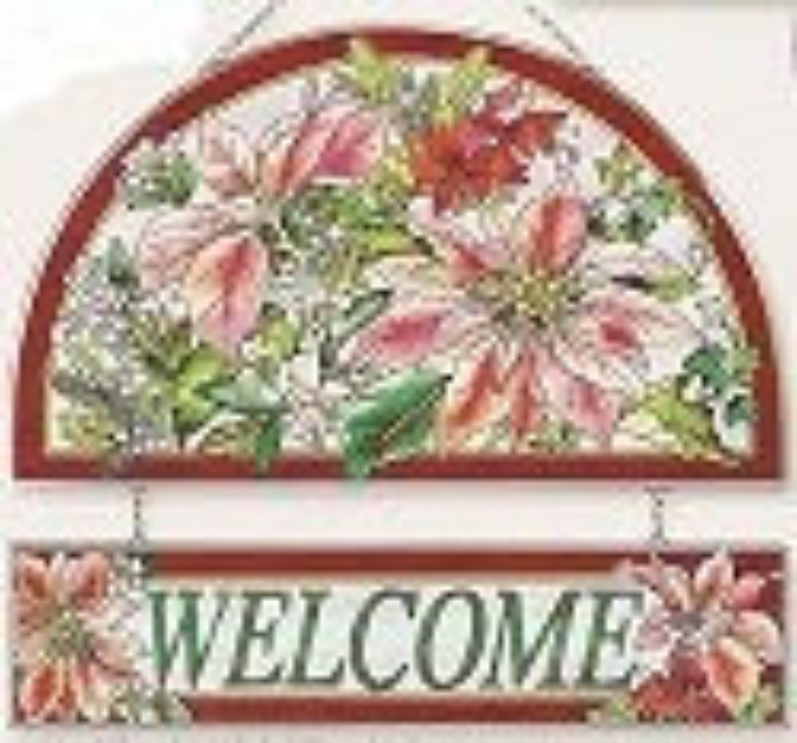 Amia 9406 Poinsettia Welcome Panel