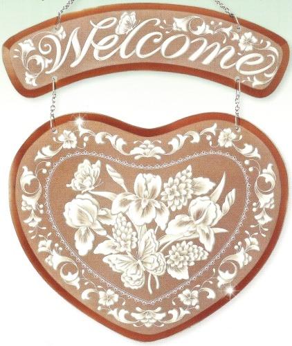 Amia 9479 Cameo Heart Welcome Welcome Panel