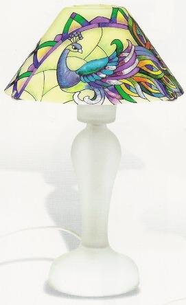 Amia 9521 Tiffany Feathers Lamp