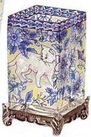 Amia 9589 Pampered Paws Rectangular Vase Votive Holder