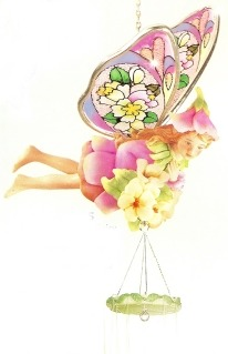Amia 9625 Hydrangea Fairy Windchimes
