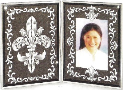 Amia 9633 Black & White Fdl Photo Frame