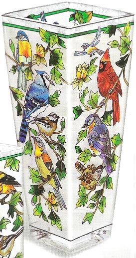 Amia 9664 For the Birds Large Vase - Flared
