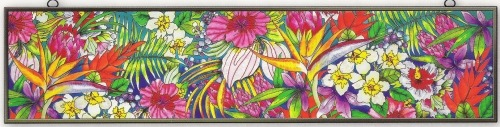 Amia 9783 Tropical Floral Window Panel