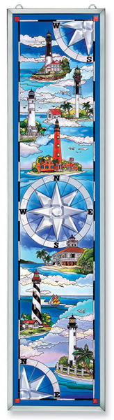 Amia 9786 South Coast Lighthouses Glass Panel