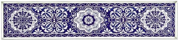 Amia 9829 Delft Blue Window Panel