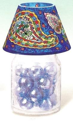 Amia 9903 Navy Paisley Jar