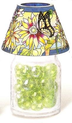 Amia 9906 Daisy Butterfly Jar