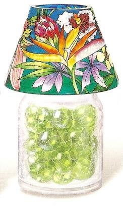 Amia 9908 Tropical Floral Jar
