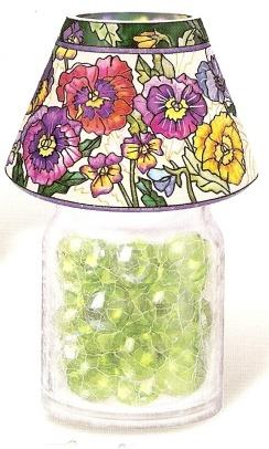 Amia 9917 Pretty Pansy Petals Jar