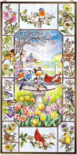 Amia 9994 For The Birds Metal Frame Window Panel