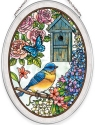 Amia 40035 Birdsong Bluebird Medium Oval Suncatcher