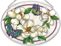 Amia 40041 Southern Magnolias Medium Oval Suncatcher