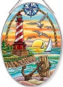 Amia 40048 Sunset Harbor Large Oval Suncatcher