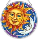 Amia 40057 Celestial Sun & Moon Medium Circle Suncatcher