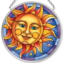 Amia 40072 Smiling Sun Small Circle Suncatcher