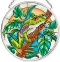 Amia 40073 Forest Frog Small Circle Suncatcher