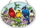 Amia 41053 Rail Birds Large Oval Suncatcher