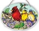 Amia 41054 Rail Birds Medium Oval Suncatcher