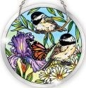 Amia 41072 Chickadee Garden Medium Circle Suncatcher