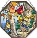 Amia 41092 Songbirds Beveled Medium Octagon Panel