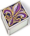 Amia 41099 Purple & Gold Medium Jewelry Box