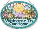 Amia 41241 Seashell Welcome Large Oval Suncatcher