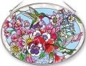 Amia 41251 Hummingbird's Delight Large Oval Suncatcher