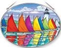 Amia 41254 Rainbow Fleet Large Oval Suncatcher