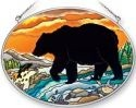 Amia 41352 Bear Silhouette Medium Oval Suncatcher