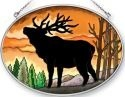 Amia 41356 Elk Silhouette Medium Oval Suncatcher