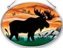 Amia 41357 Moose Silhouette Medium Oval Suncatcher