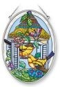 Amia 41365 Homing Goldfinches Medium Oval Suncatcher