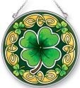 Amia 41401 Celtic Leaves Medium Circle Suncatcher