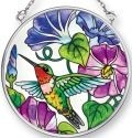 Amia 41504 Hummingbird Morning Glory Small Circle Suncatcher