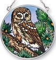 Amia 41513 Owl Small Circle Suncatcher