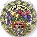 Amia 41561 Spring Tulips Small Circle Suncatcher