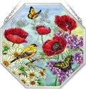 Amia 41564 Parade of Poppies Beveled Medium Octagon Panel