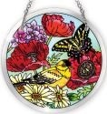 Amia 41566 Parade of Poppies Medium Circle Suncatcher
