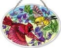Amia 41583 Unfurling Glory Birds Beveled Medium Oval Suncatcher