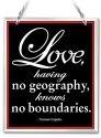 Amia 41647 Love Knows No Boundaries Beveled Glass Rectangle Suncatcher