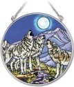 Amia 41731 Wolf Pack Medium Circle Suncatcher