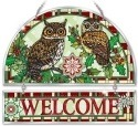 Amia 41779 Christmas Owls Beveled Welcome Panel