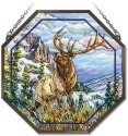 Amia 41843 High Mountain Elk Beveled Medium Octagon Panel