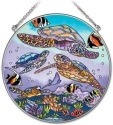 Amia 41908 Turtle Dive Large Circle Suncatcher