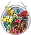 Amia 41931 Poppies Paradise Medium Circle Suncatcher