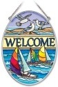 Amia 41940 Seaside Welcome Medium Oval Suncatcher